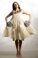 robe oiseau lin et maille