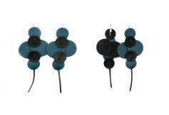 Boucles oreille bleu