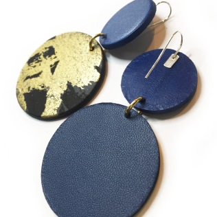 boucles oreille R1 bleu